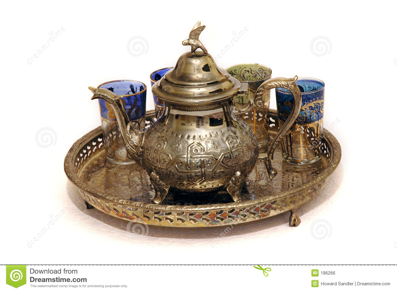 Moroccan Mint Tea Set Royalty Free Stock Image Image 186266