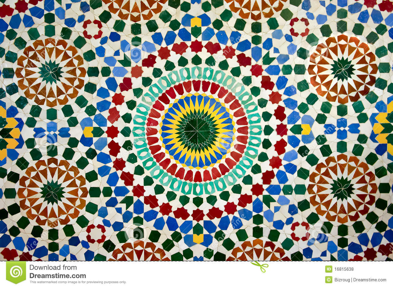 Moroccan Mosaic Stock Photo Image Of Ceramic Geometric