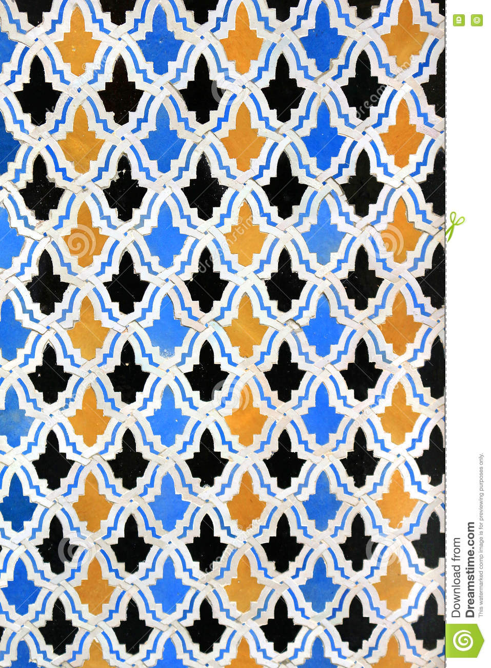 Moroccan Mosaic Tiles On Wall Stock Photo - Image of mosaic ...