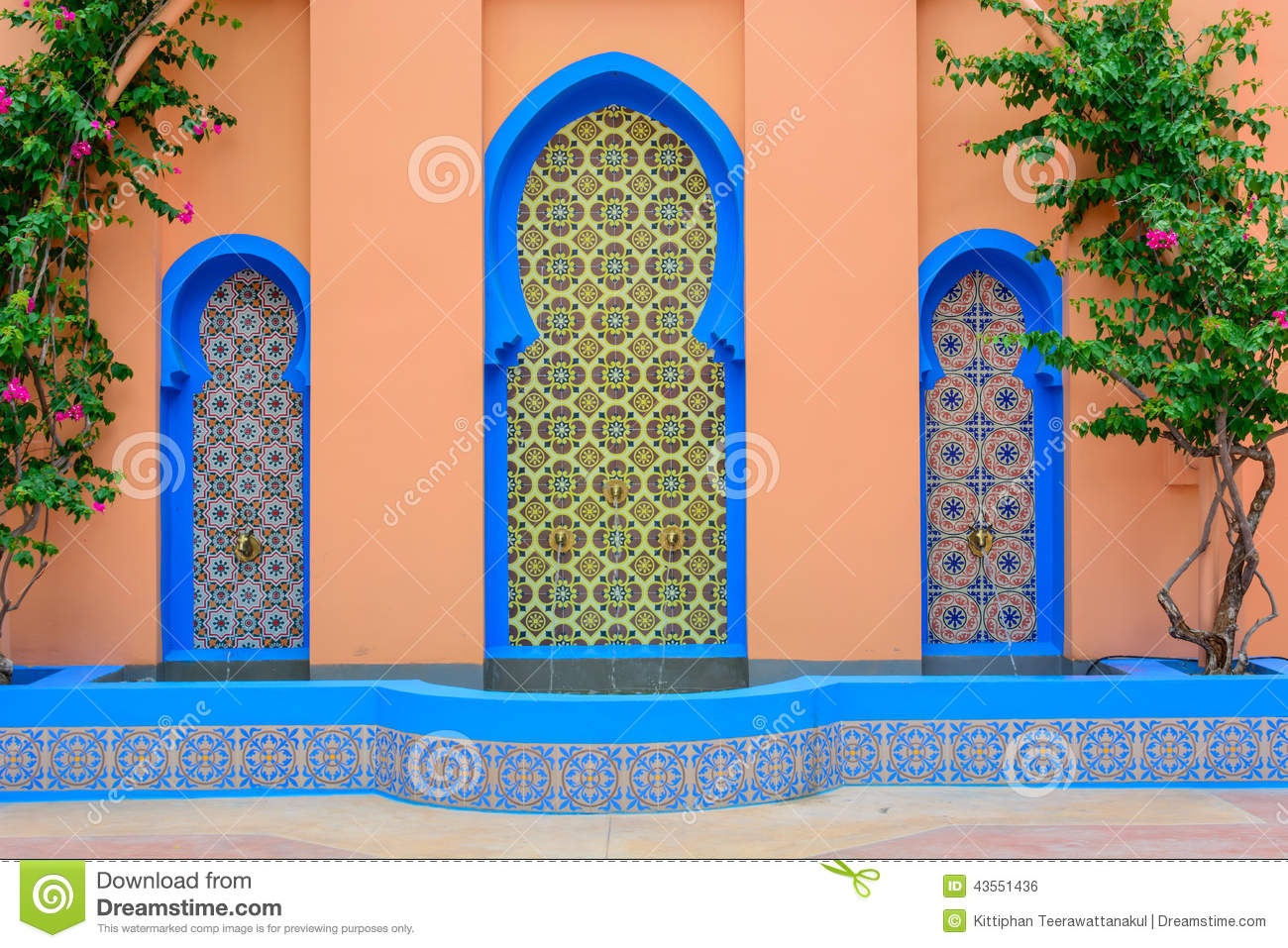 moroccan style fountain stock photo - image: 43551436