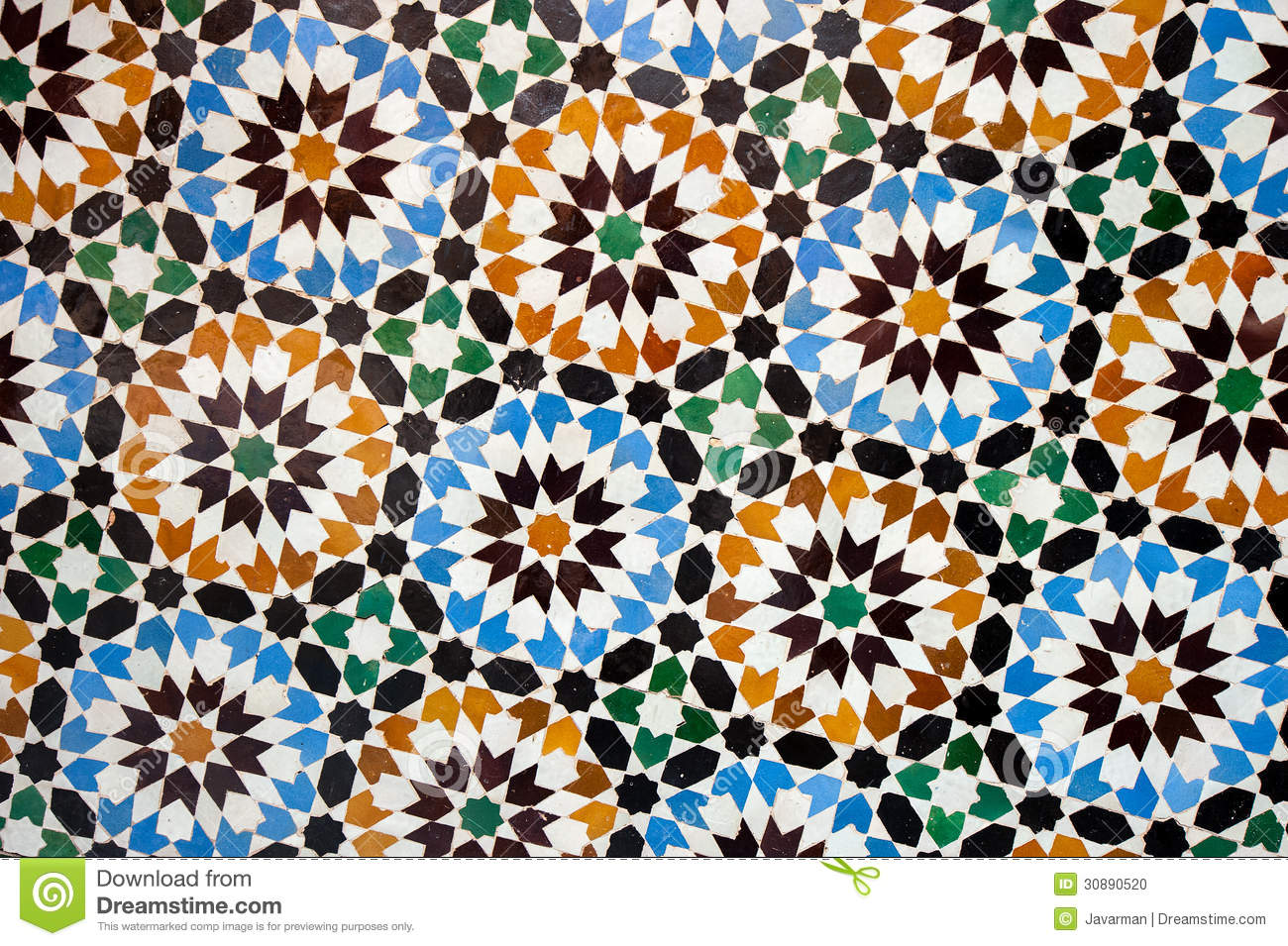 Moroccan tile background stock photo image 30890520
