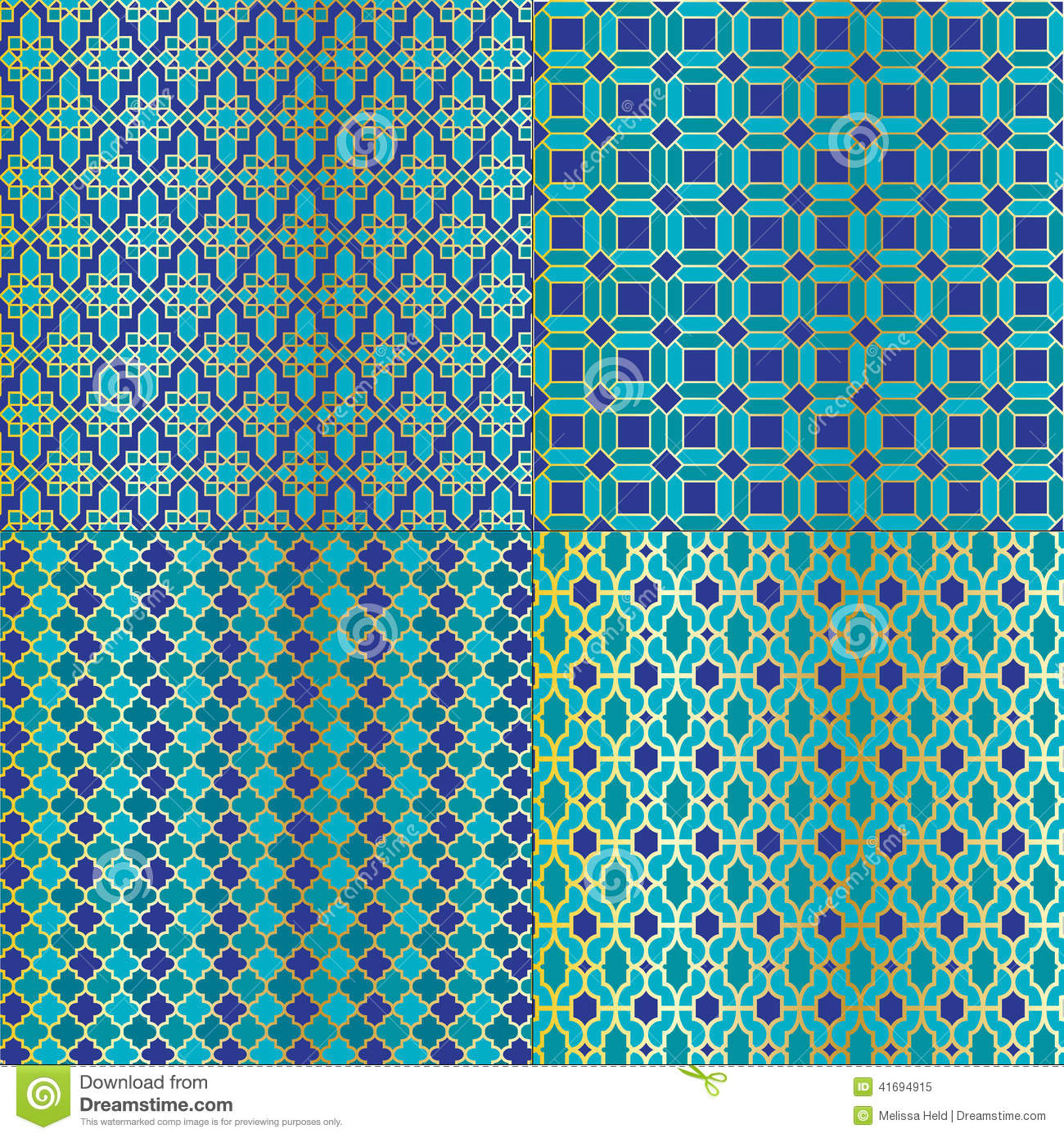 Moroccan Tile Patterns stock vector. Illustration of tile - 41694915