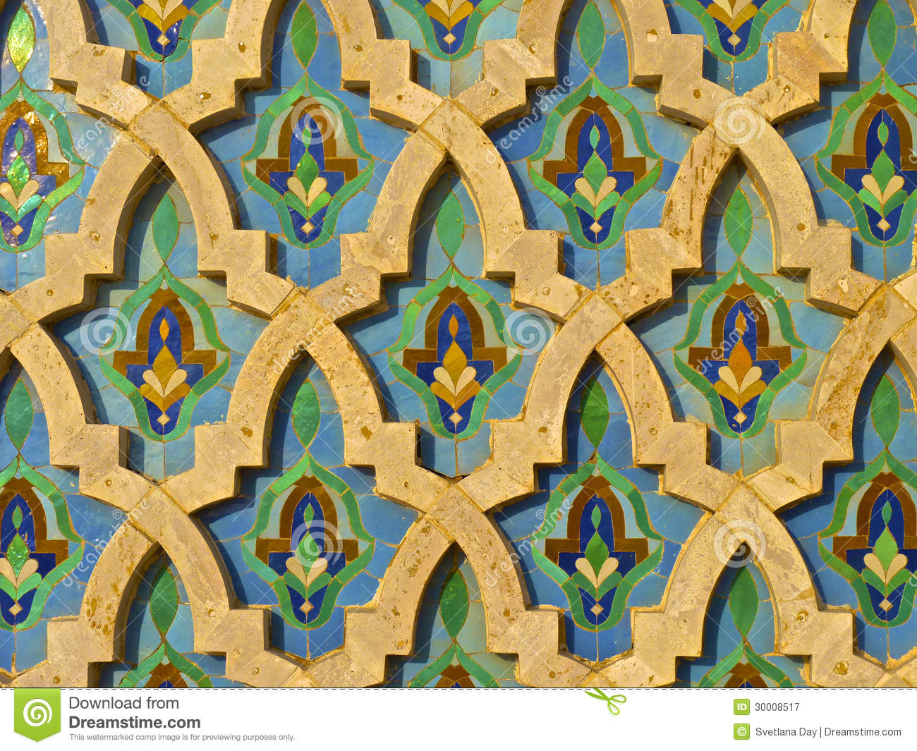 Moroccan Darj W Ktaf Tile Pattern Royalty Free Stock