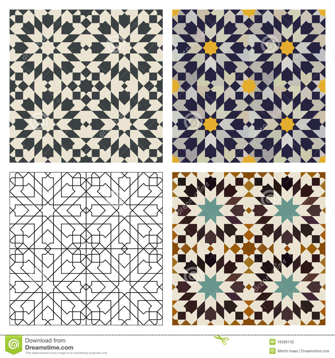 Moroccan Tiles Stock Photography Image 18396142