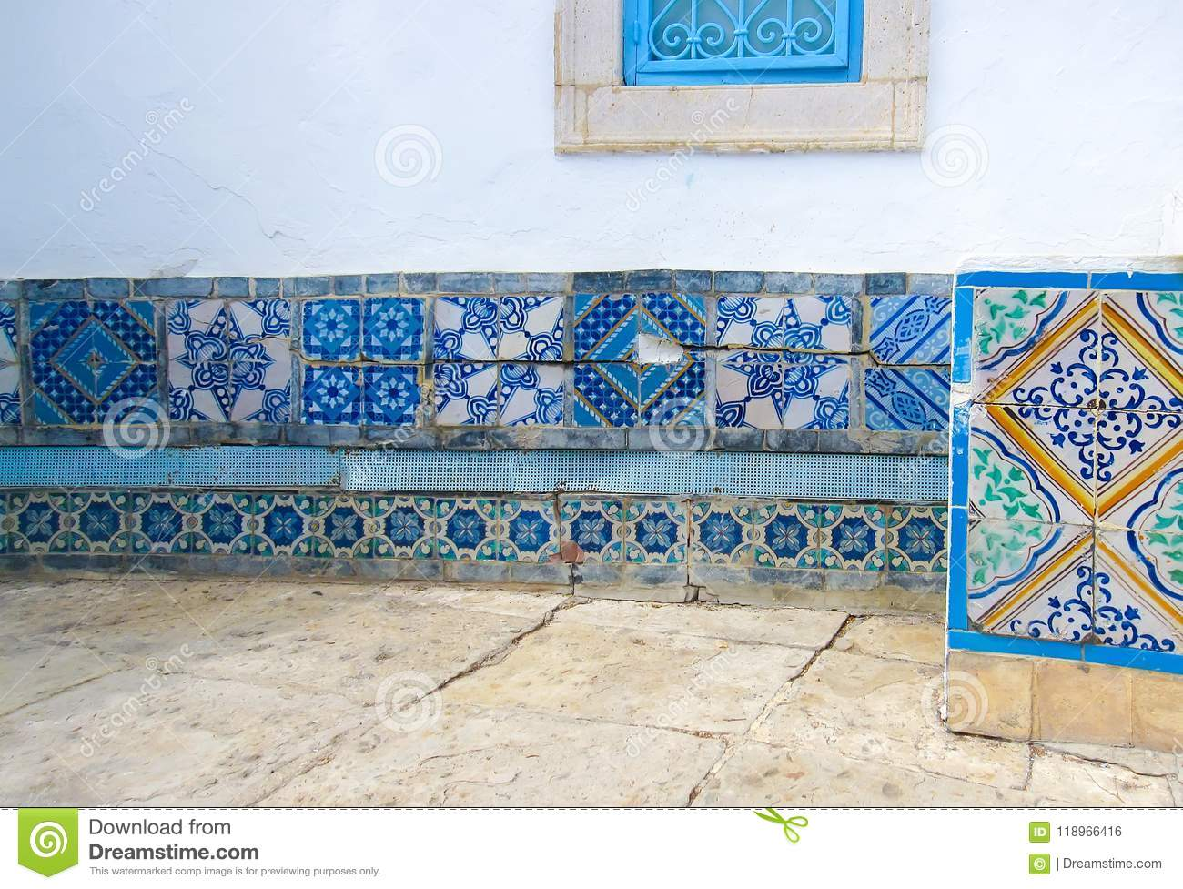 Moroccan Tiles. Fragment Of Decorative Furnishing The House Wall ...