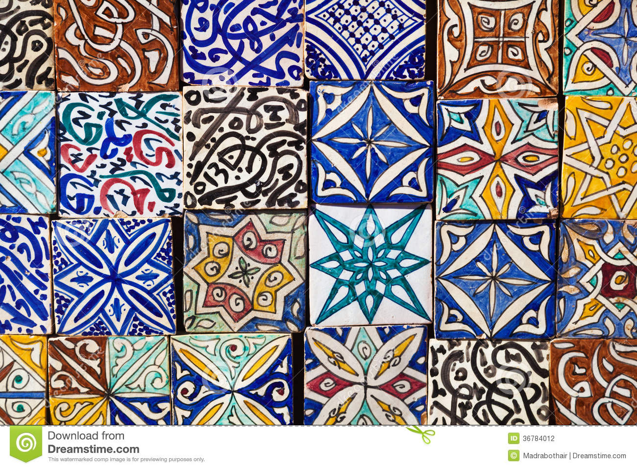 Moroccan tiles pattern stock photo image of islamic for Clay tile designs