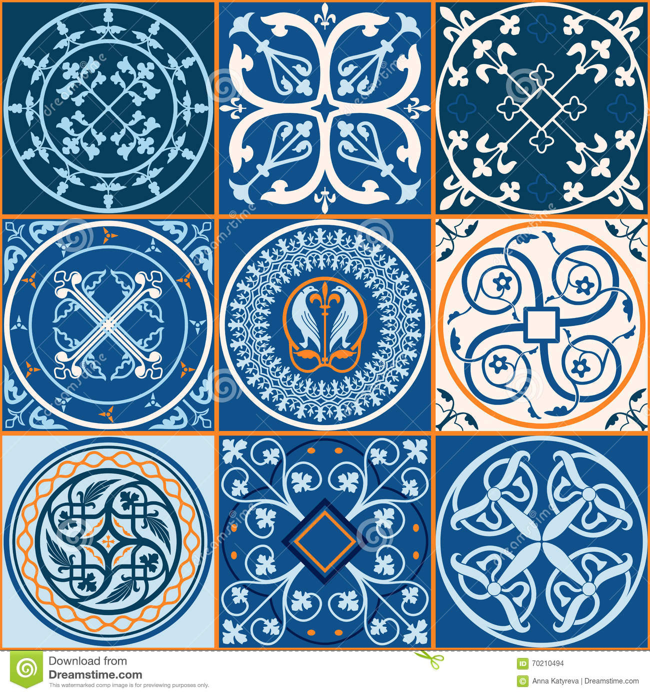Moroccan Tiles Pattern Stock Vector Image 70210494