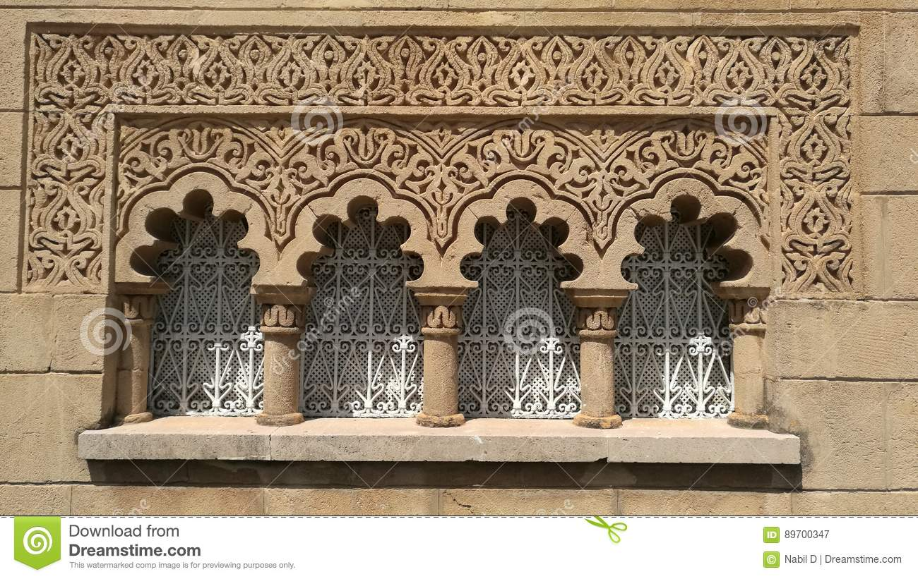 Moroccan traditional window stock photo image 89700347 - Meuble salle de bain fer forge ...