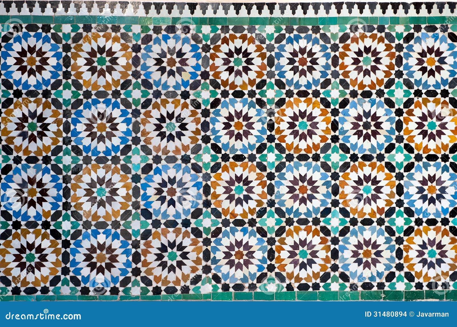 Moroccan vintage tile background stock images image 31480894