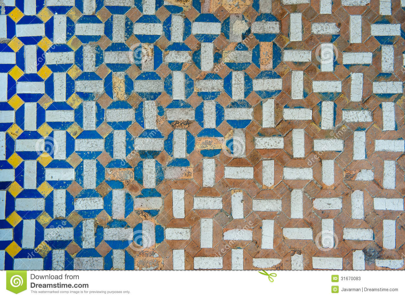 Moroccan Vintage Tile Background Stock Illustration ...