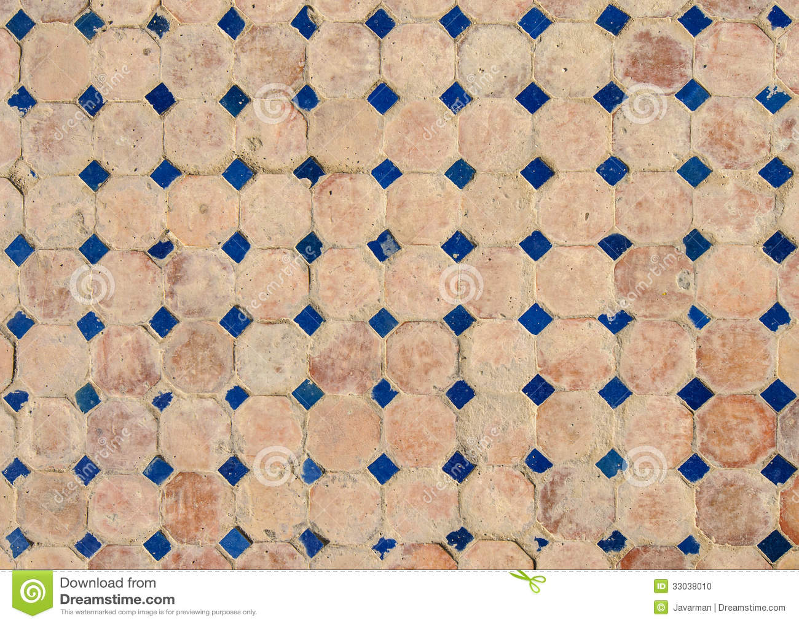 Moroccan vintage tile background stock photo image 33038010