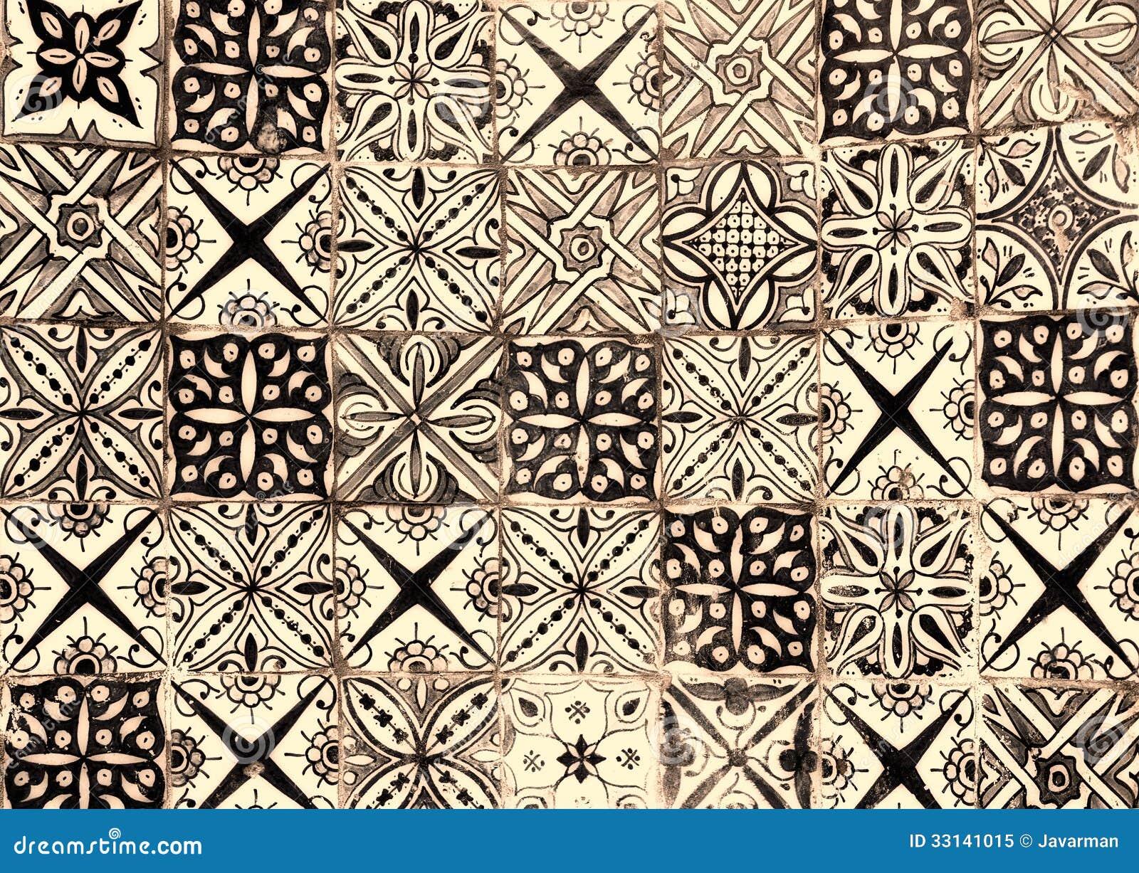 Moroccan vintage tile background royalty free stock photo - Azulejos vintage cocina ...