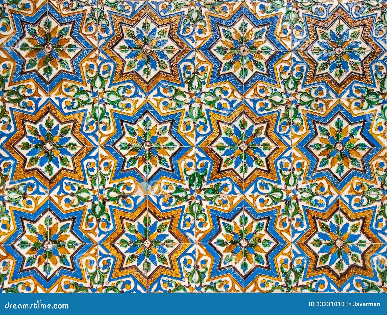 Moroccan vintage tile background stock photo image 33231010