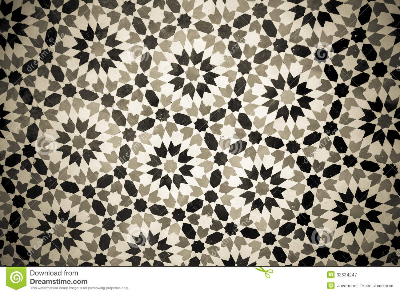 Moroccan Vintage Tile Background Royalty Free Stock Photo Image
