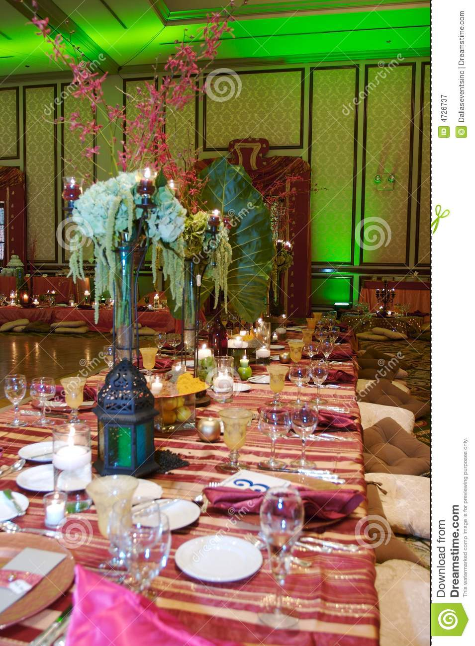Moroccan Wedding Reception Stock Image Image Of Catering