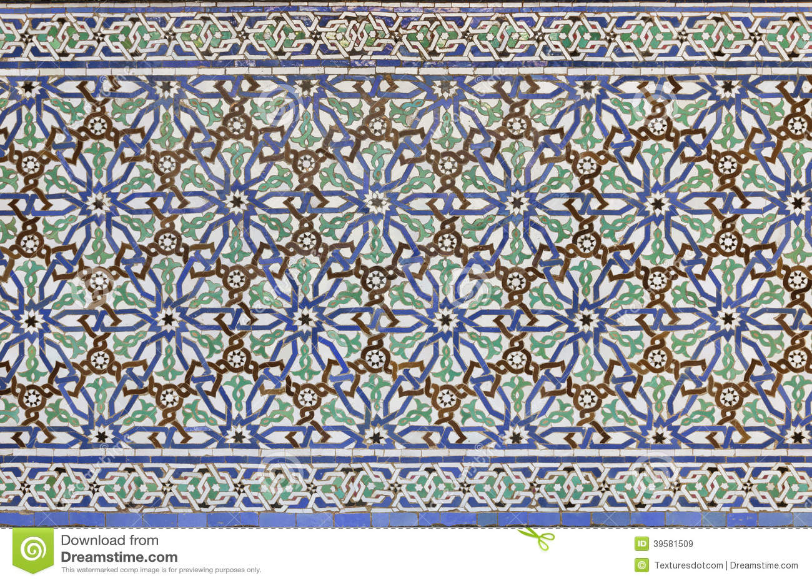 Moroccan Zellige Tile Stock Image Image Of Casablanca