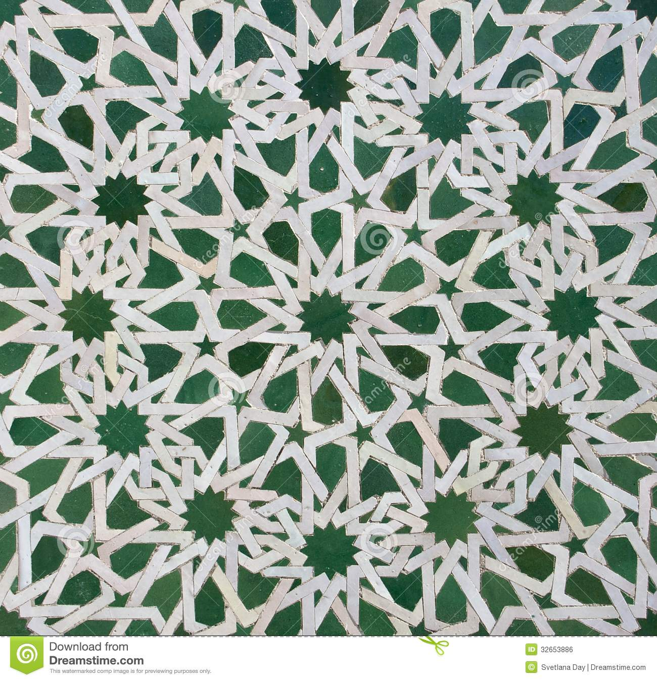 Moroccan Zellige Tile Pattern Stock Photo Image 32653886