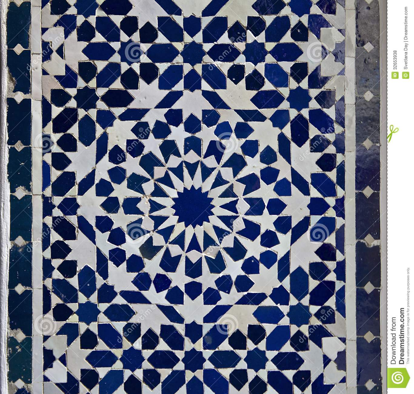 Moroccan Zellige Tile Pattern Stock Photo Image 32653938