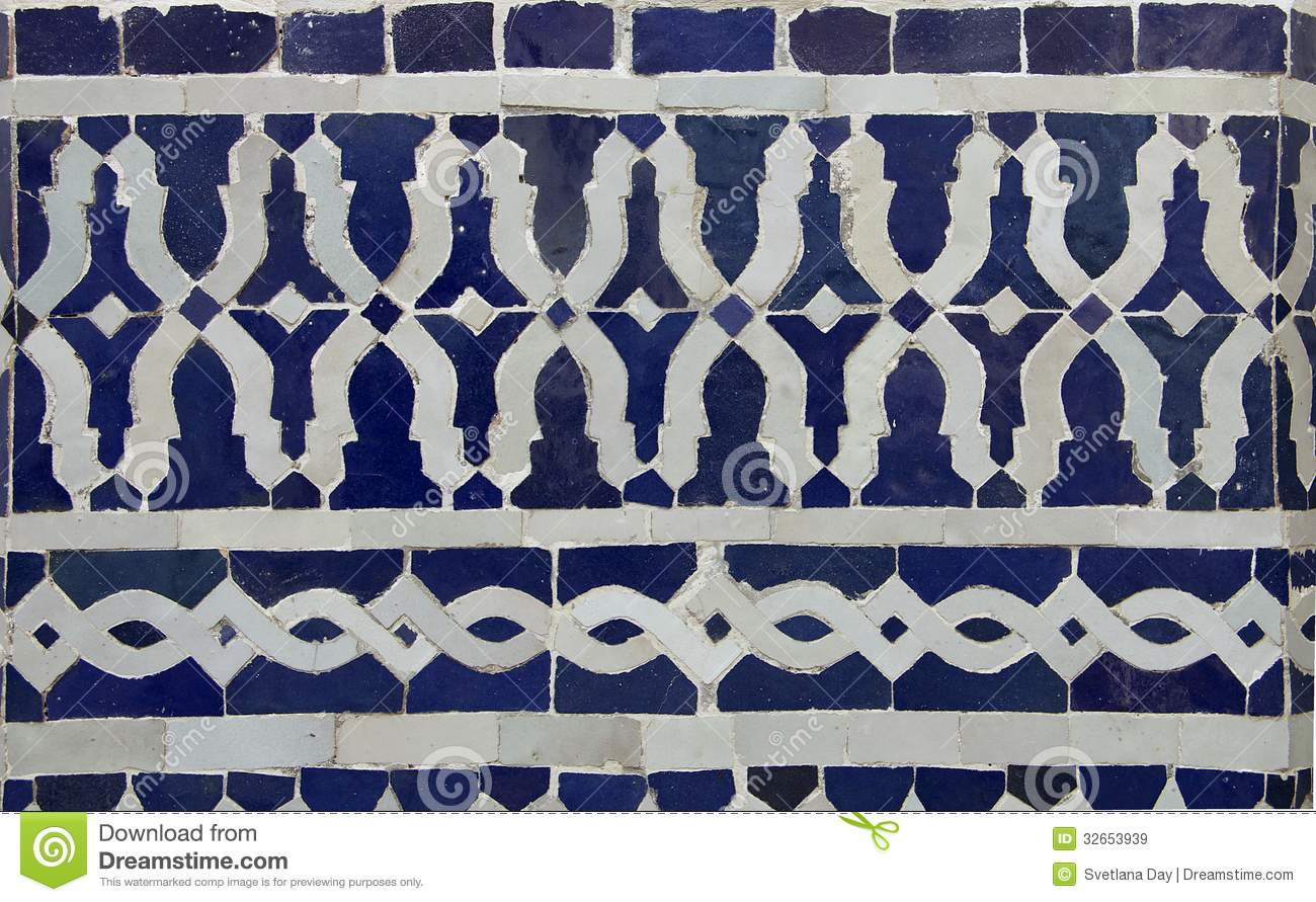 Moroccan Zellige Tile Pattern Stock Image Image Of