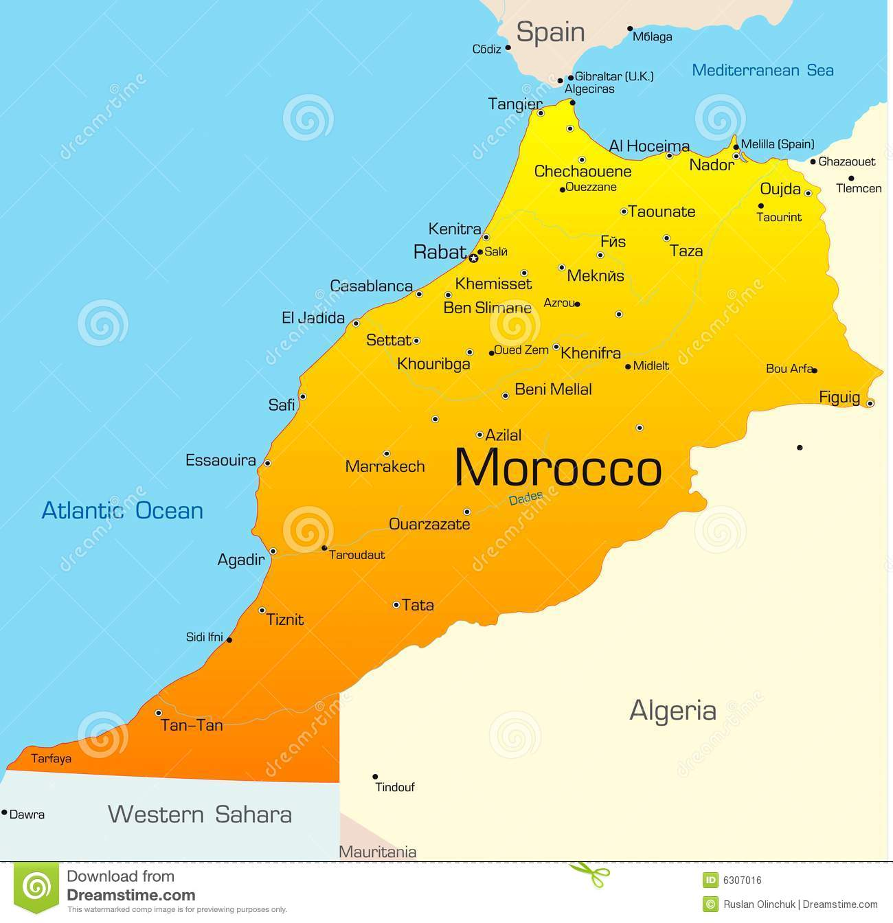 morocco map Colouring Pages (page 3)
