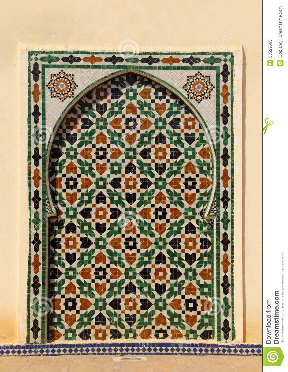 Morocco Meknes Islamic Wall Panel Stock Image Image Of