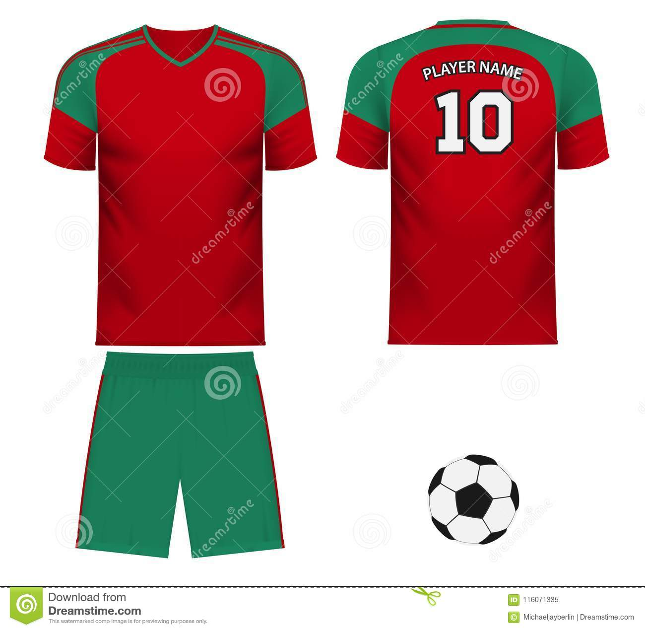 f6b12bcee3a Morocco national soccer team shirt in generic country colors for fan apparel