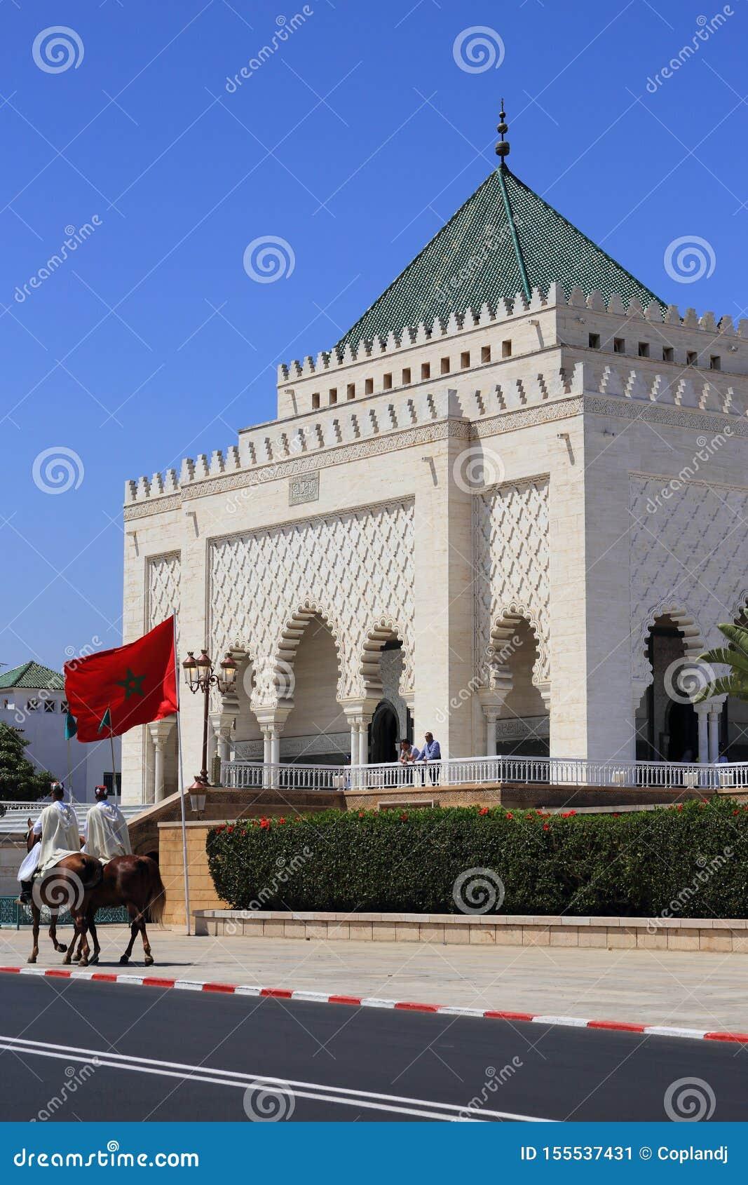 Morocco Rabat Mauzoleum Mohammed V fasada