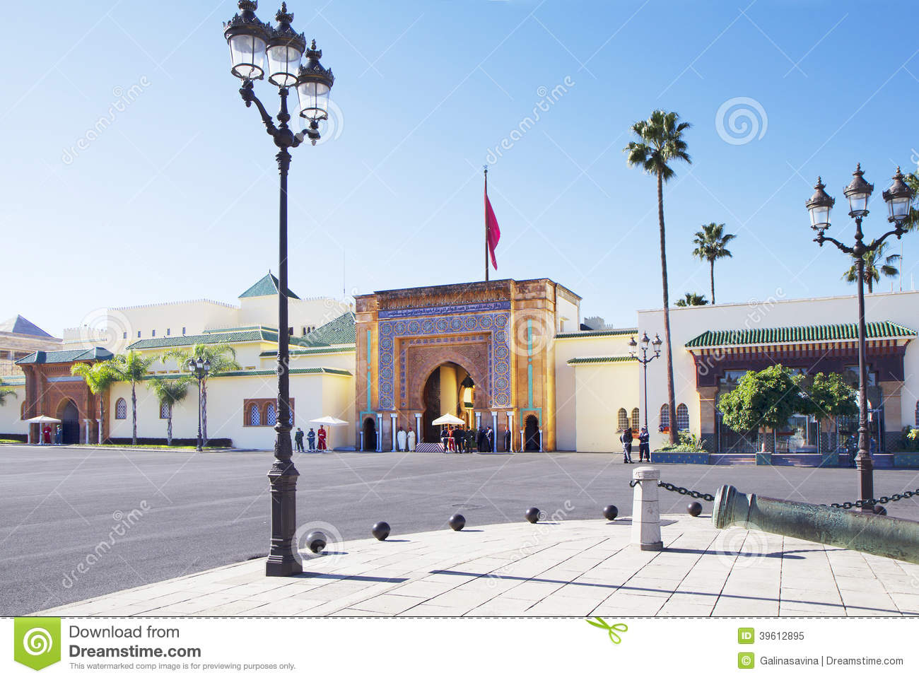 Royal Palace - the residence of the King of Morocco Mohammed VI - the ...