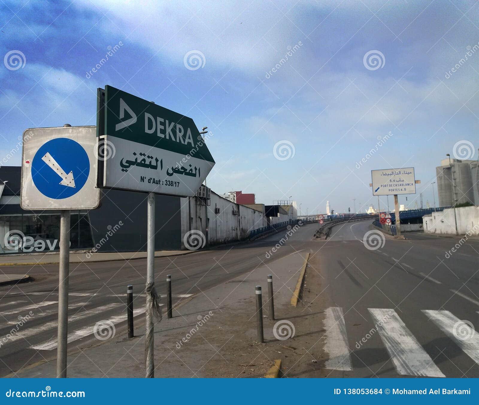 Morooco tecnico di ispezione di traffico - JPEG di immagine