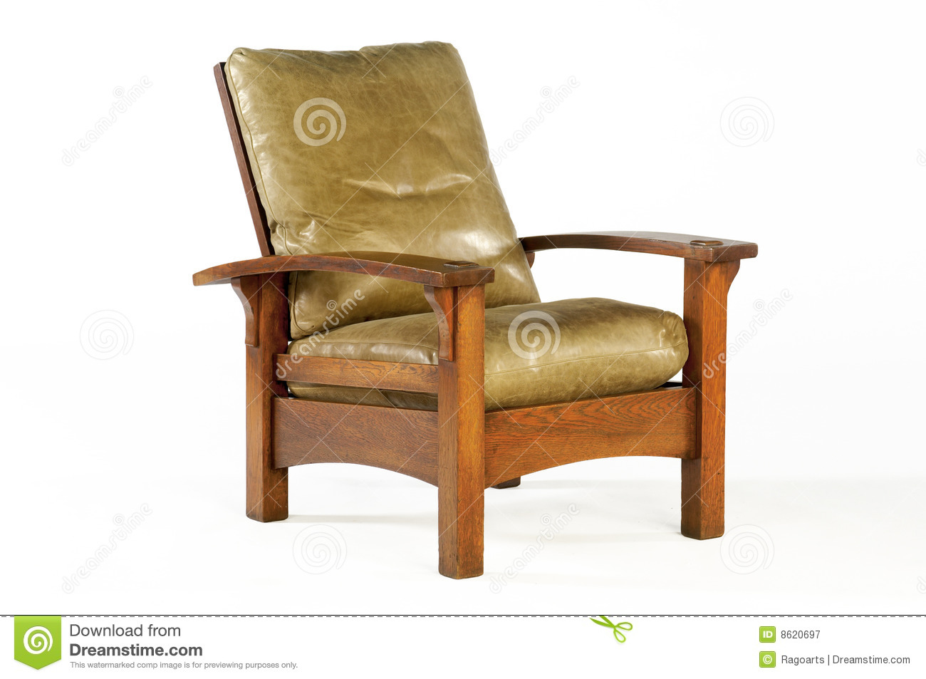 Download Morris Chair With Leather Cushions Editorial Photography   Image  Of Style, Interior: 8620697