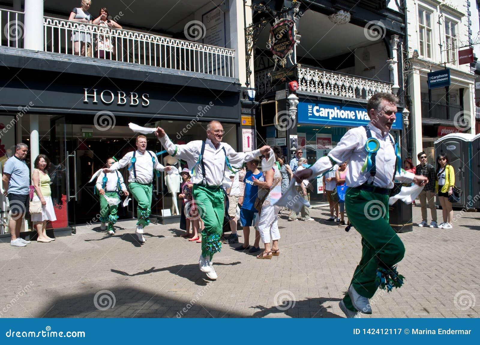 Morris Dancers, Cheshire, Reino Unido