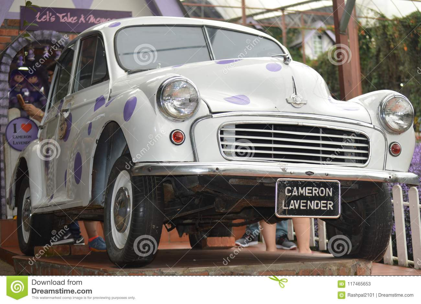 Morris Mini Samochód Na Pokazie Zdjęcie Stock Editorial Obraz