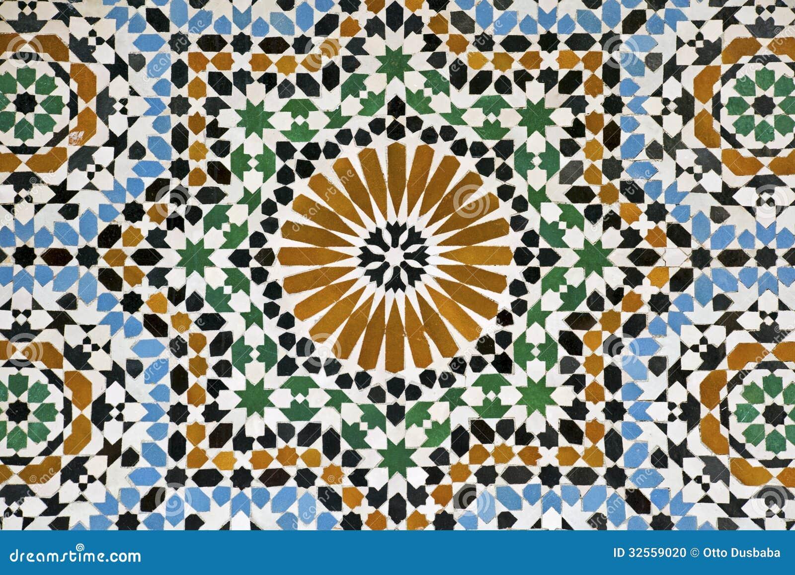 Morrocan mosaic tiles stock photo. Image of decorative - 32559020
