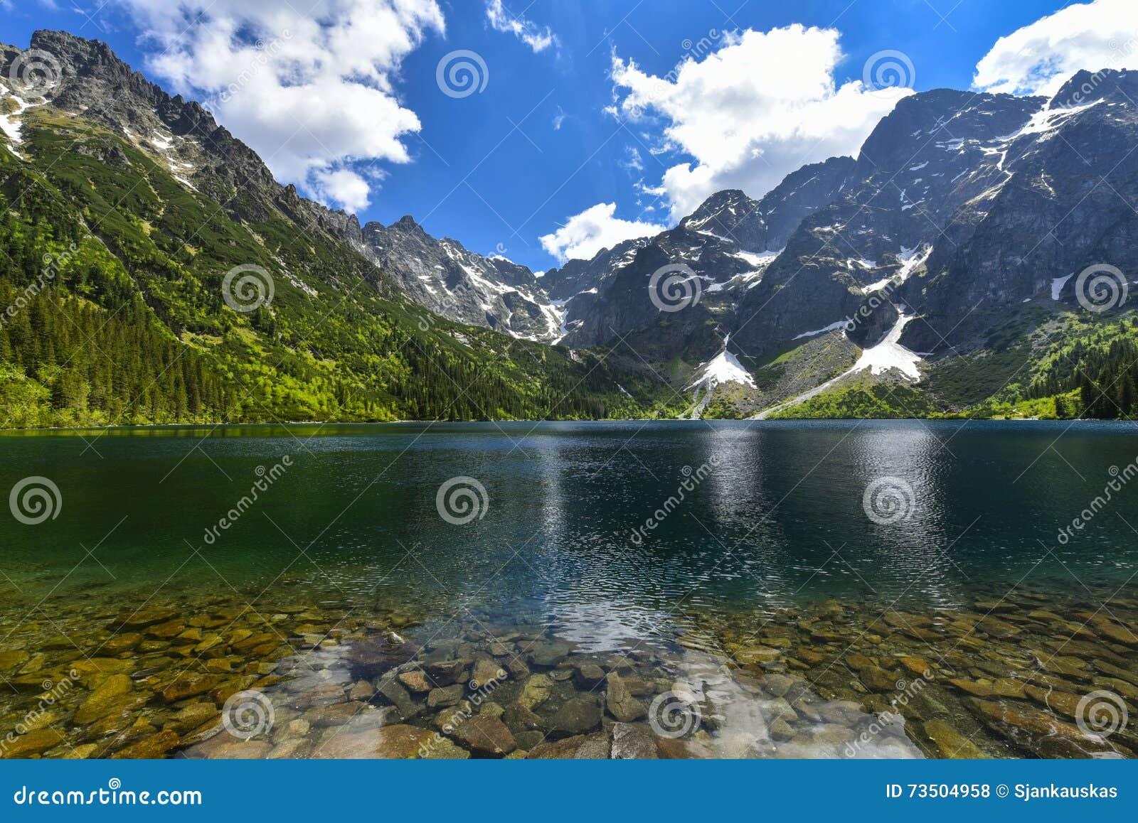 Morskie oko lake, Sea eye, Zakopane, Poland