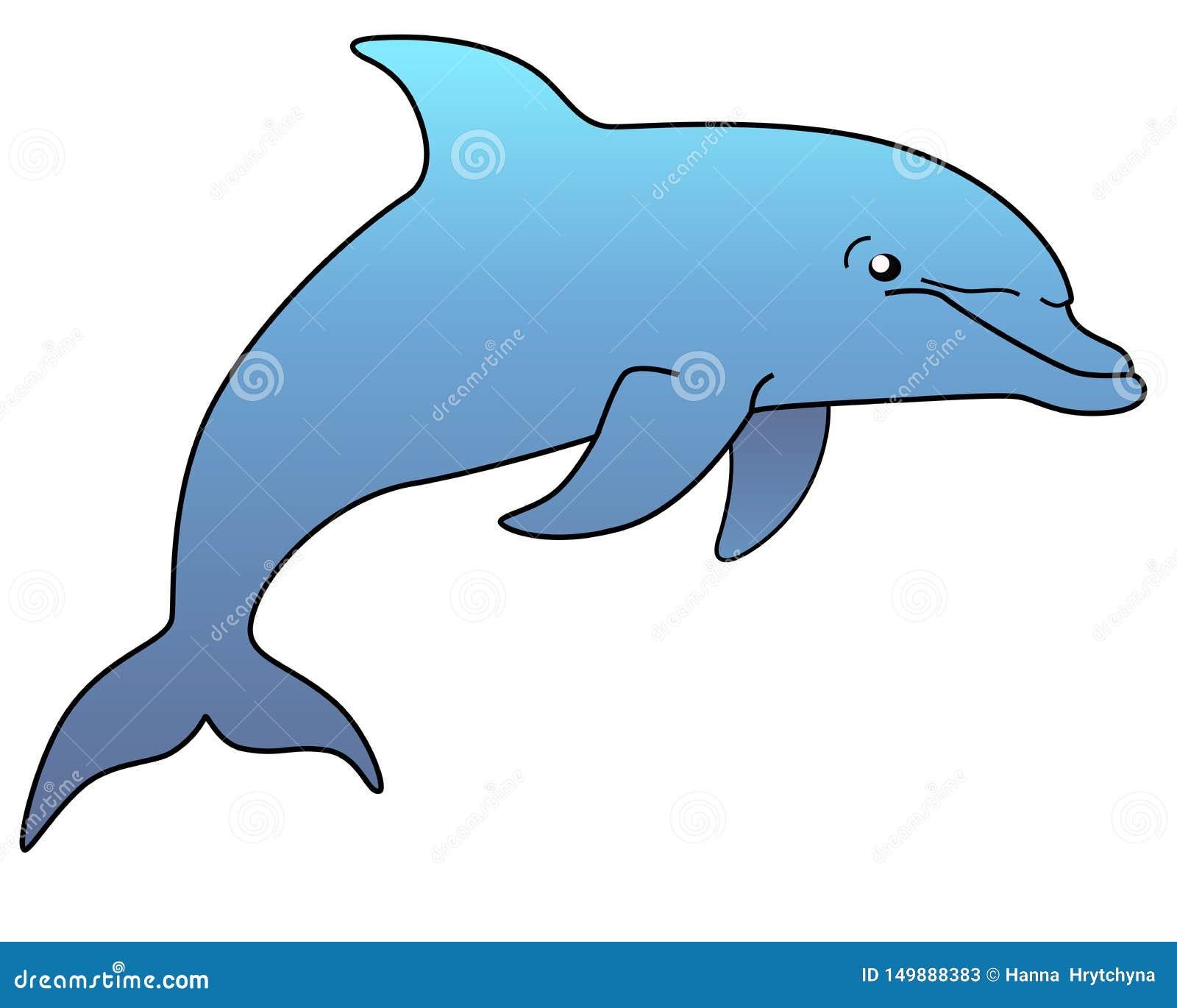 Morskiego ssaka delfin Śmieszny śliczny delfin skacze z wody