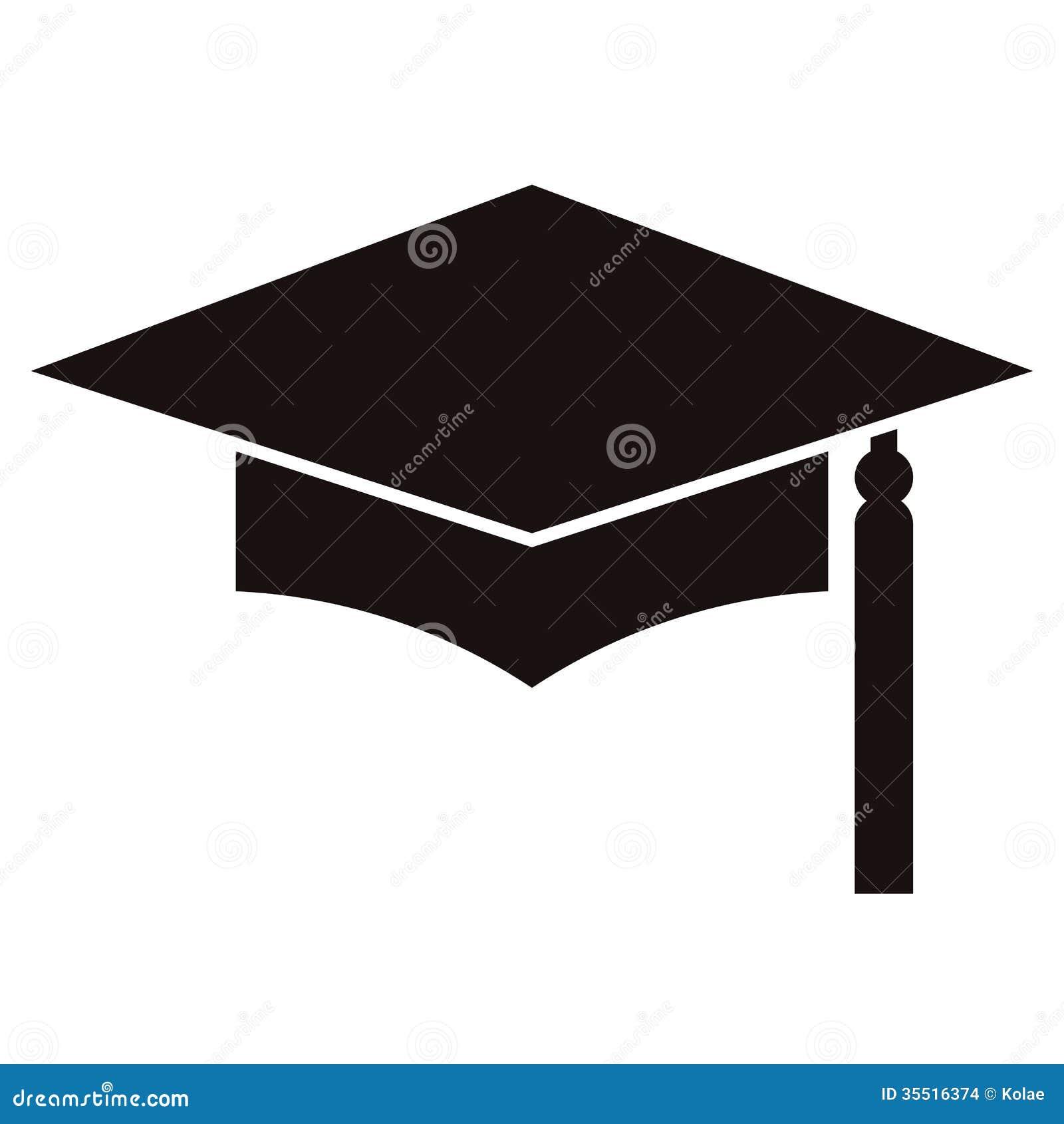 Mortar Board Or Graduation Cap, Education Symbol Stock Images - Image ...
