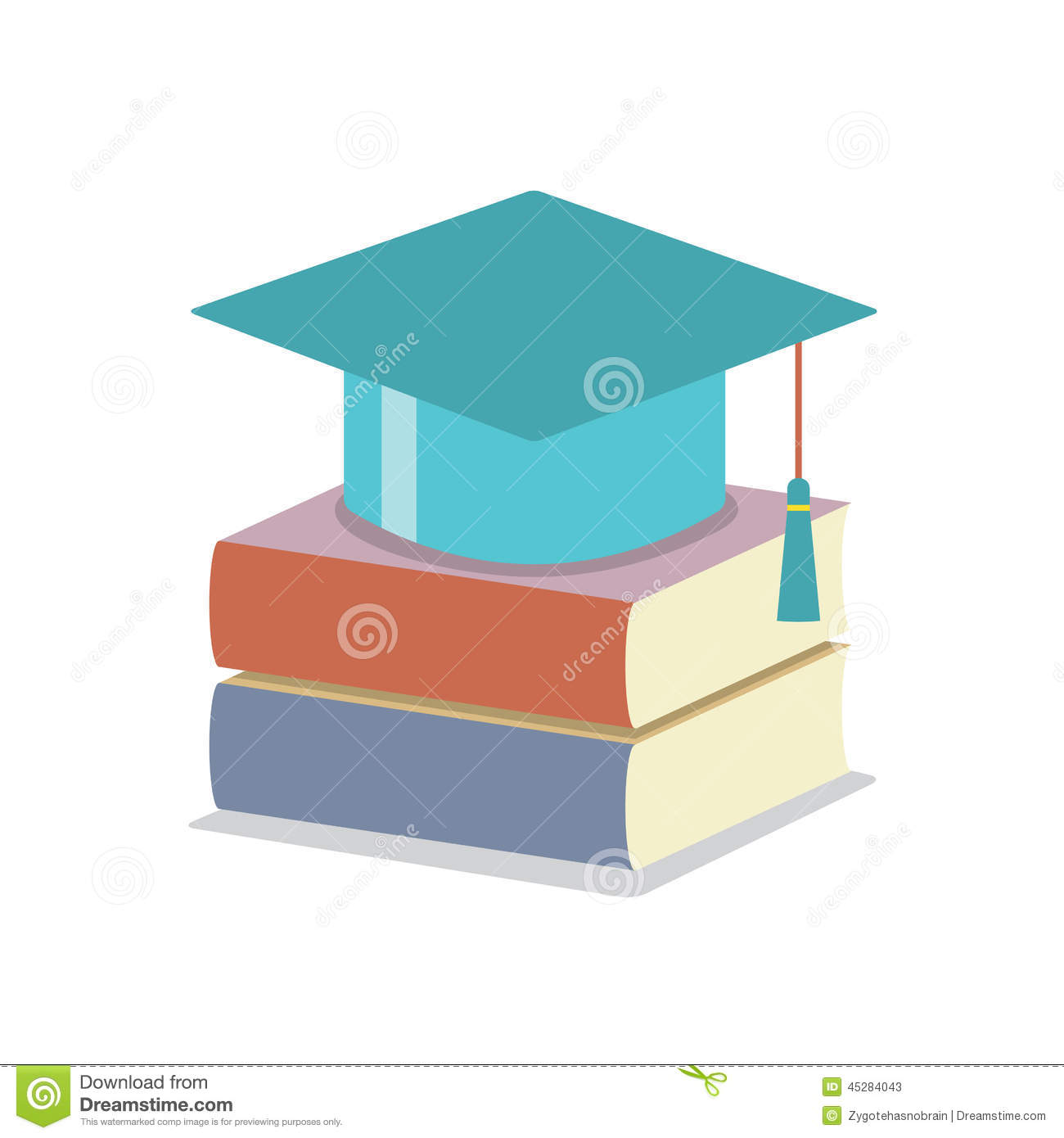 mortarboard with books education concept stock image image of books graduate 45284043. Black Bedroom Furniture Sets. Home Design Ideas