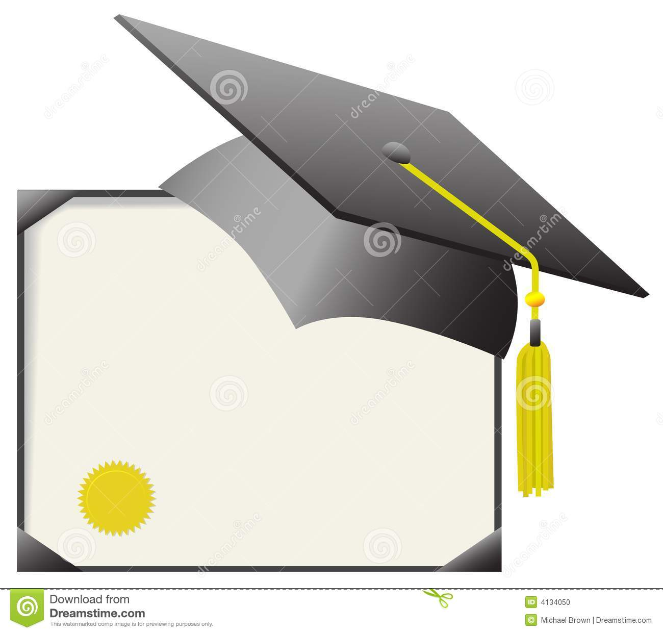 For cap & gown day: gray mortar board graduation cap & gold tassle ...