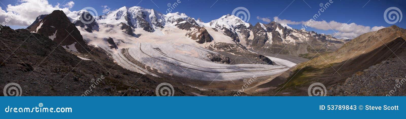 Morteratsch lodowiec, Szwajcaria