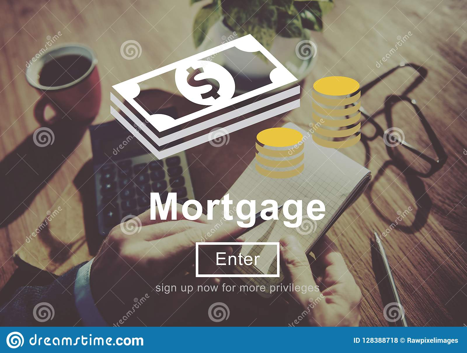 Mortgage Banking Loan Finance Money Concept