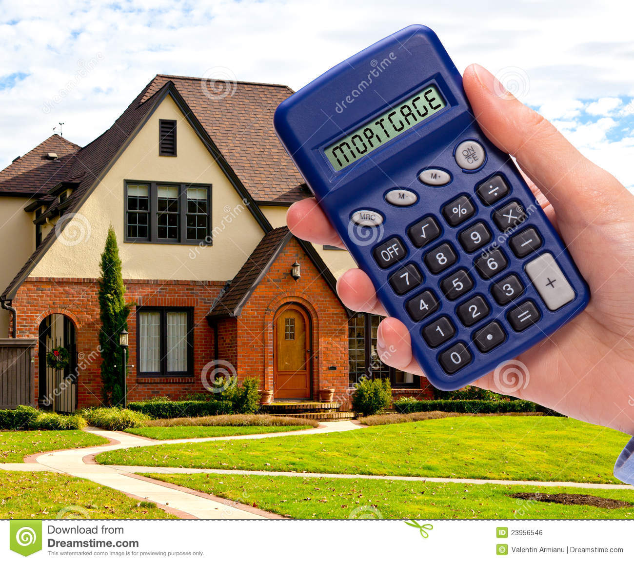 Mortgage calculator royalty free stock image image 23956546 for Build a home calculator