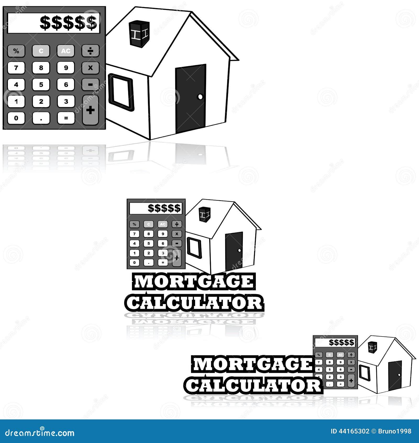 Mortgage Calculator Stock Illustration Image 44165302