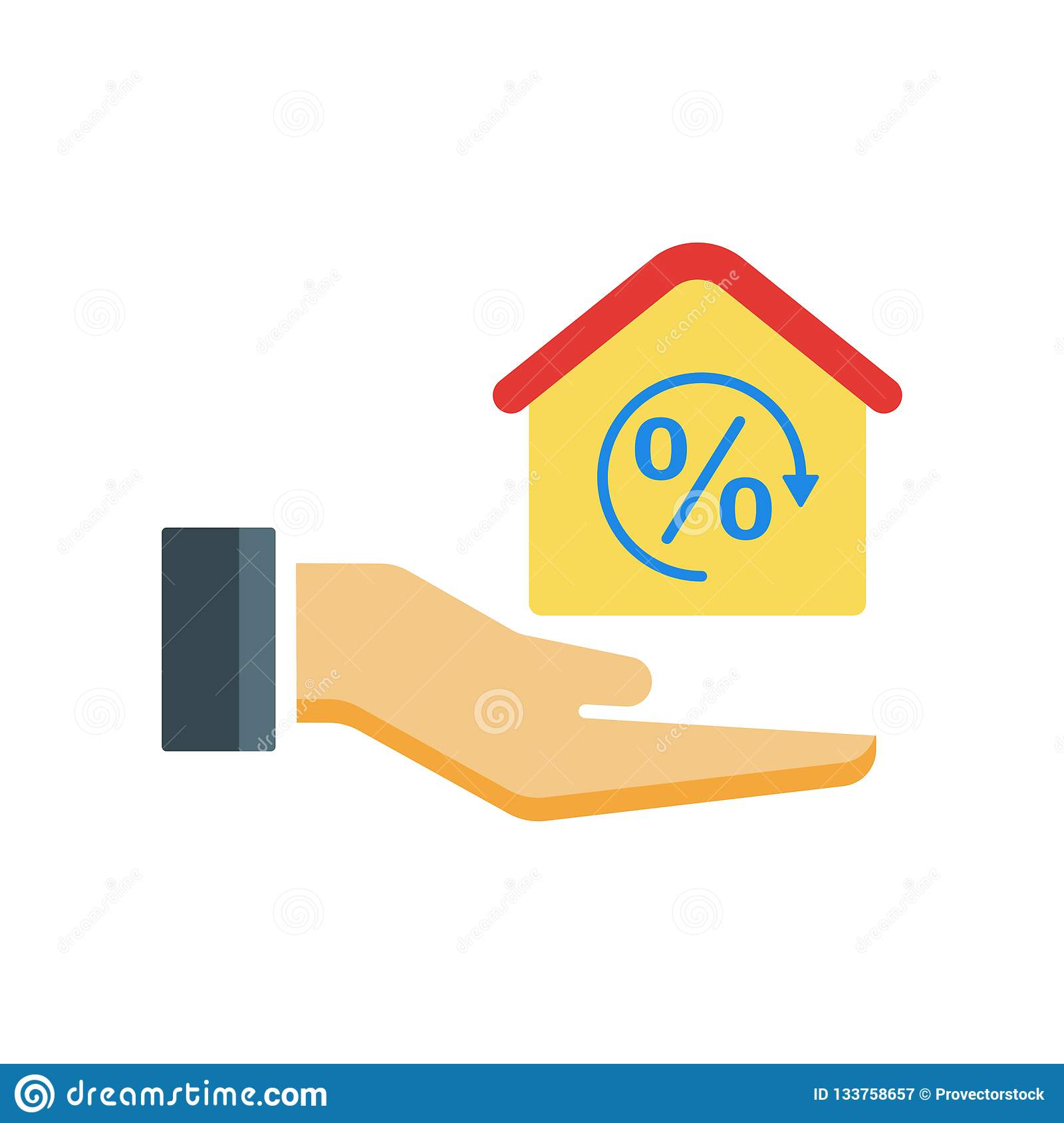 Mortgage Icon Vector Sign And Symbol Isolated On White ...