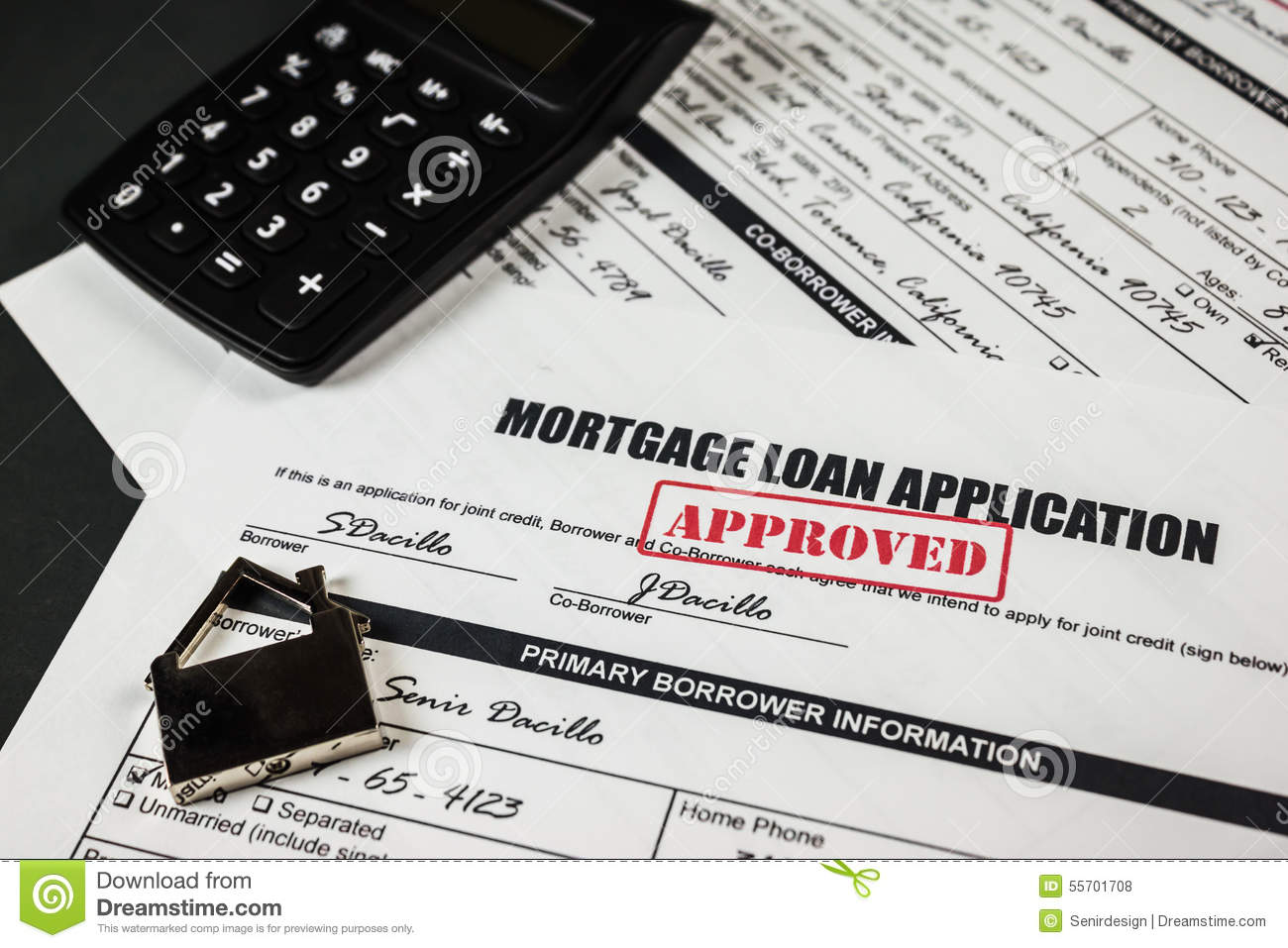 mortgage loan application approved 013 stock photo image of agreed