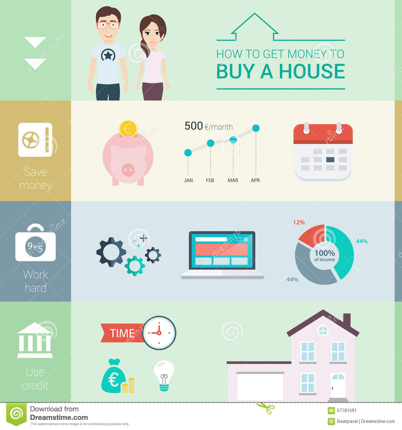 Mortgage Payment Mortgage Payment Stock Illustration Image: 57781591 Buy A  House 4 How To Buy
