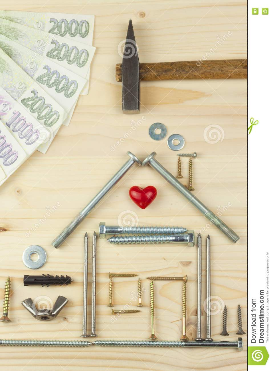 beautiful free money to build a house #6: Royalty-Free Stock Photo