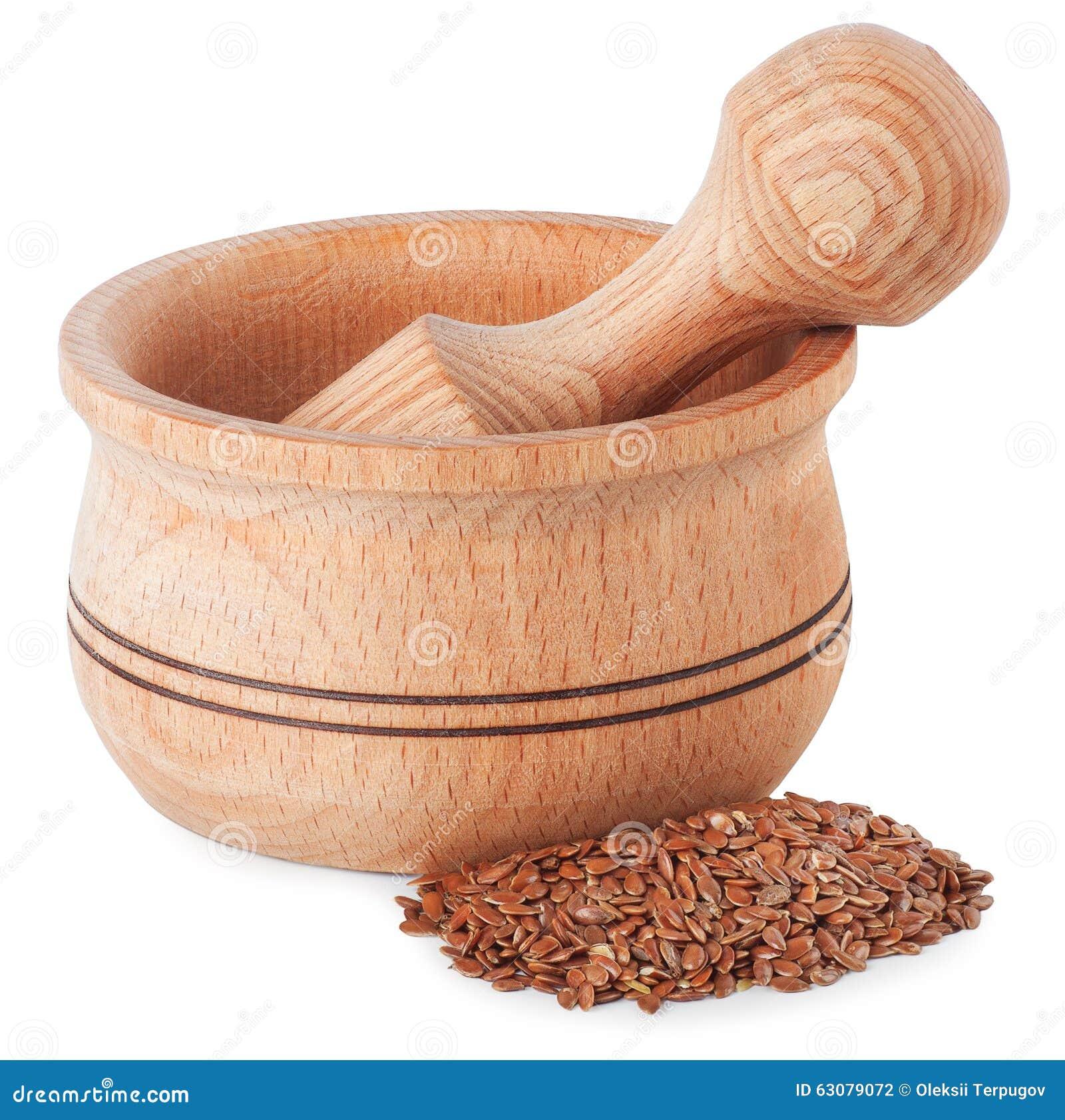 Download Mortier Avec Des Graines De Lin Photo stock - Image du gras, médecine: 63079072