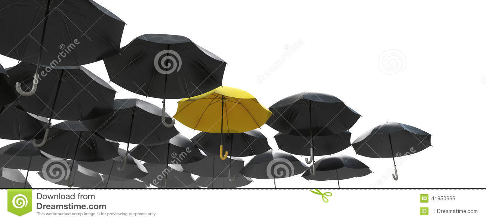Morze czarny parasol ale żółta jeden pozycja out