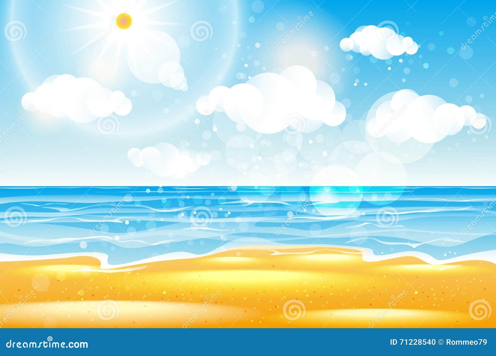 Morze karon plaża Tajlandia Morze plaża z fala, niebieskim niebem i białym piaskiem, piękna fala morza pusty plaży morze naturaln