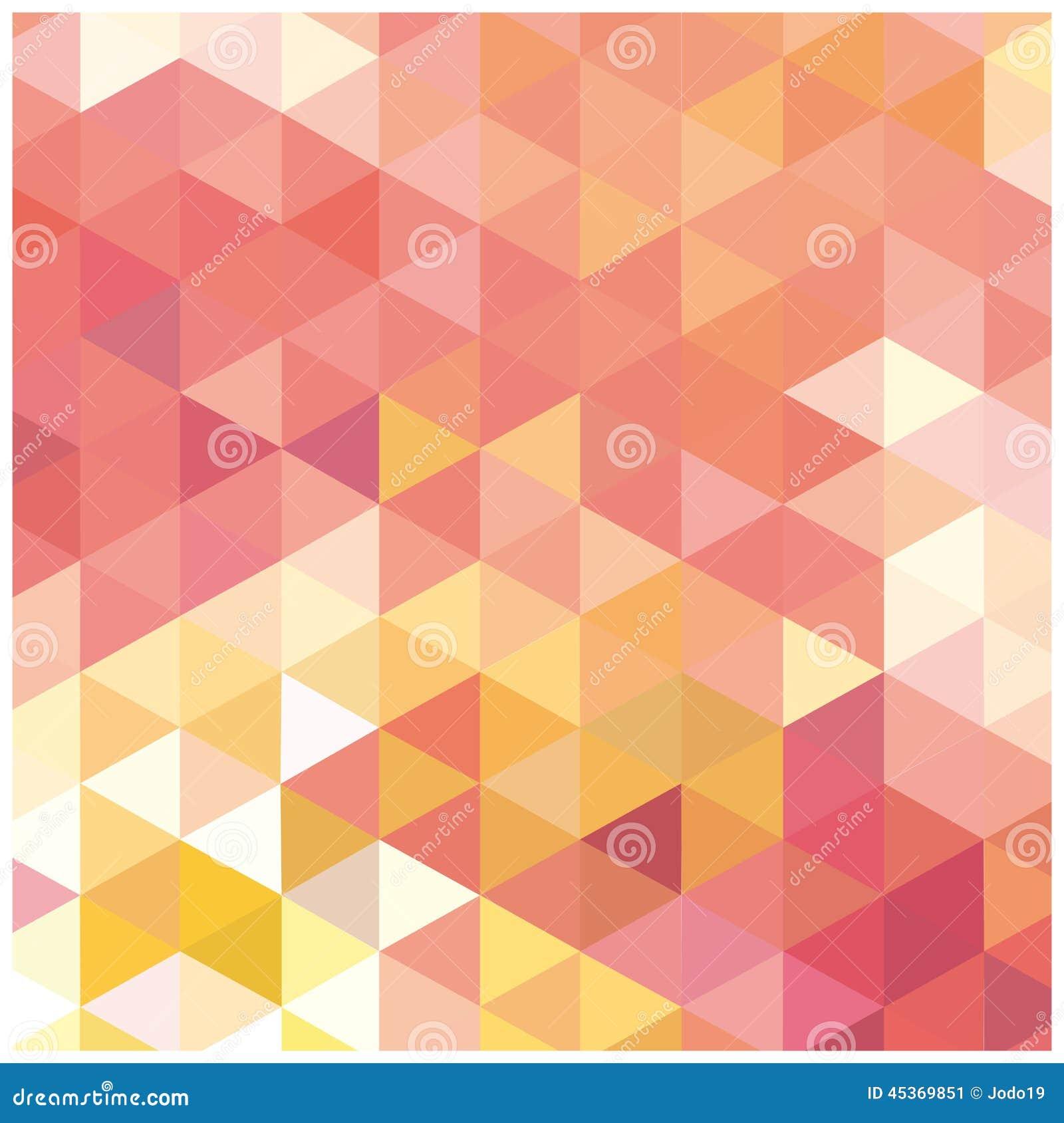 Mosaïque abstraite de fond des triangles
